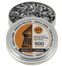 Tin Of 500 .177 4.5mm pointed pellets